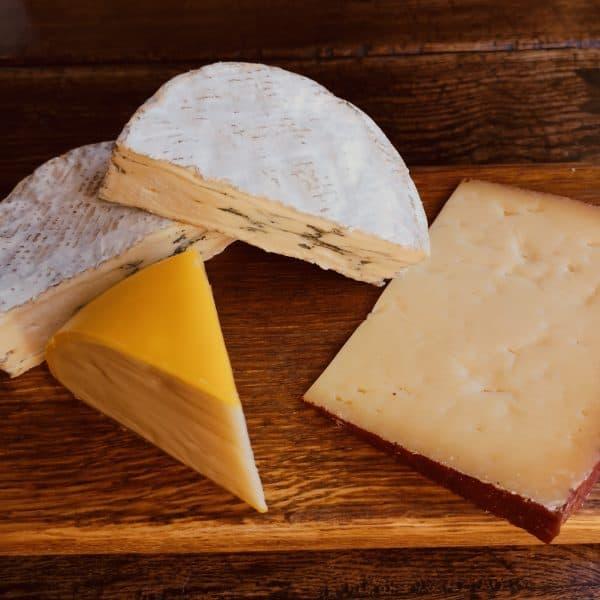 Three Cheese Hamper Displayed